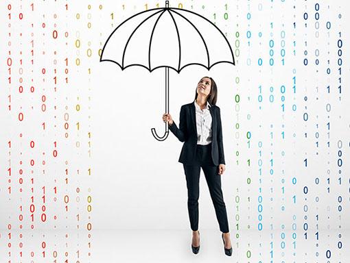 Lady holding an umbrella